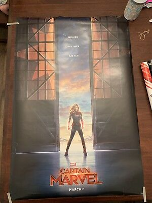 Captain MARVEL- Original Movie Poster - Brie Larson - 27x40 - Double Sided