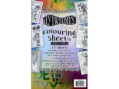Dyan Reaveley's Dylusions Colouring Sheets #2 13cm x 20cm. Ranger. Best Price