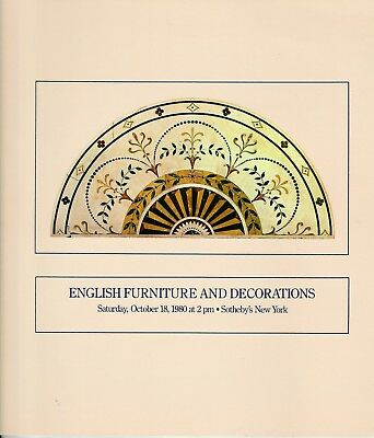 Sotheby's New York Vintage 1980 Catalog English Furniture and Decorations