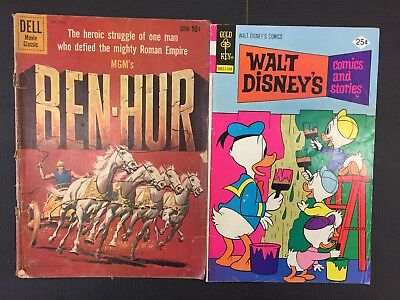 Dell Ben-Hur 1959 Gold Key Walt Disney Comics & Stories 1975 Combine Shipping