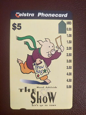 Mint Royal Adelaide Show Phonecard Prefix 1241
