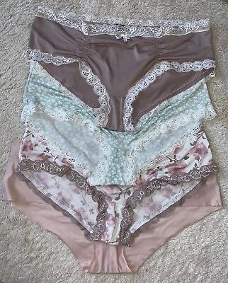 Marilyn Monroe Intimates 4 Pair Of Intimates 3 Lace Hipster Roushed- 1 Invisible