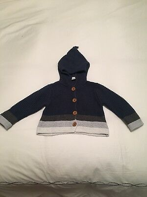 Nordstrom Baby Cotton Hooded Sweater - Size 12 Months