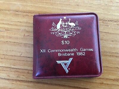 1982 $10 Silver UNC Coin Australia X11 Commonwealth Games Brisbane