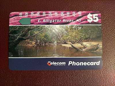 Mint $5 Landscapes II E. Alligator River, NT Phonecard Prefix 449