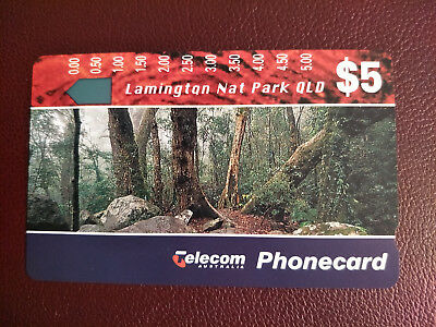 Mint $5 Landscapes II Lamington Nat Park QLD Phonecard Prefix 449