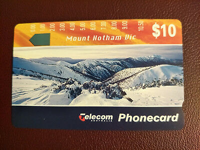 Mint $10 Landscapes II Mount Hotham Vic Phonecard Prefix 458