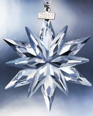 Swarovski Annual Large Snowflake Christmas Holiday Ornament 2011 NIB Crystal!