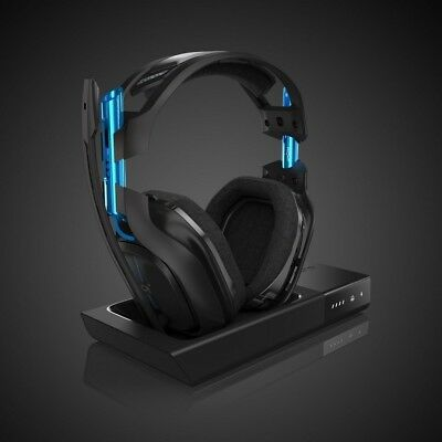 Astro A50 PS4 Edition Black/Blue Headband Headsets (Latest Generation)