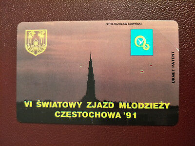 Mint 50 Unit Poland Phonecard VI World Youth Congress Rare