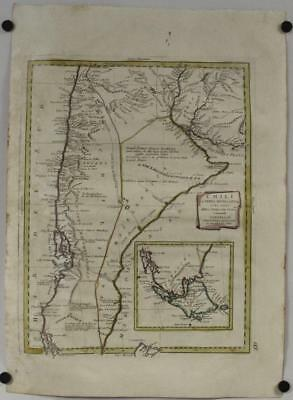 Chile Argentina Patagonia 1785 Zatta Unusual Antique Originalcopper Engraved Map