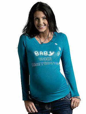 Women's Maternity Slogan Top, Long Sleeve Pregnancy Funny T Shirt, Tunic Tee