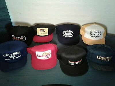947ba648fbe Lot of 8 Vintage 80s 90s Trucker Farmer Hats Grain Seed Livestock Snapback  Mesh