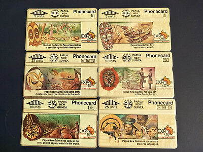 Mint Papua New Guinea Phonecard Set Sevillle Expo '92