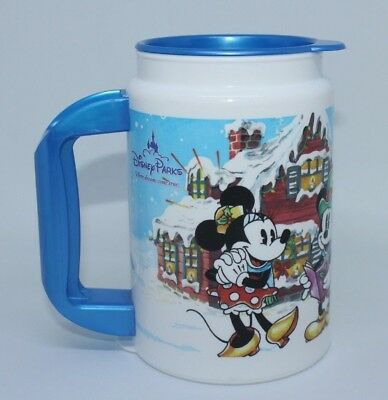 2007 Disney Parks Christmas Carol Holiday Whirley Drink Works Plastic Drink Cup