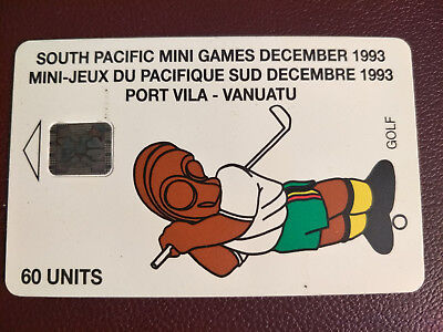 Used Telecom Vanuatu Phonecard South Pacific Mini Games December 1993 Port Vila