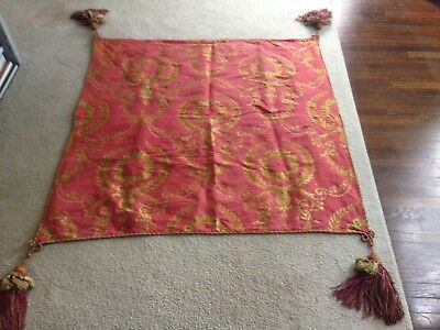 Antique Brocade/Tapestry Piano Cover with Large Tassels