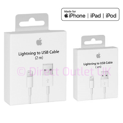 Genuine Apple Lightning USB Charger Lead Cable iPhone 8 7 6 5 X XS Max iPad OEM