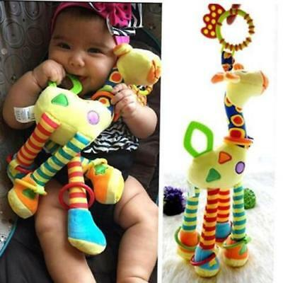Cute Baby Giraffe Model Rattle Ring Bell Music Baby Bed Hanging Toy kids Gift WT