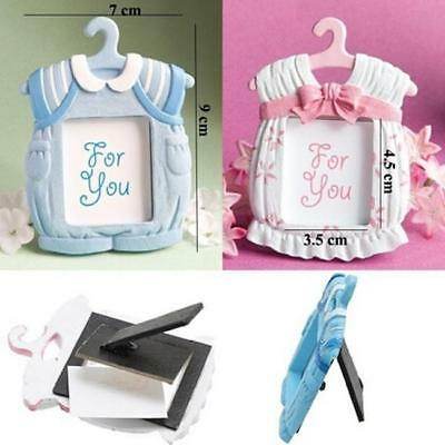 Cute Baby Themed Photo Frame Baby Shower Favors Girl Boy Pink Blue WT