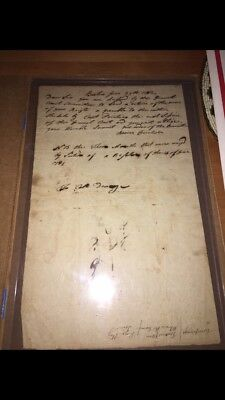 Letter Written By First Responding Lexington and Concord Minuteman