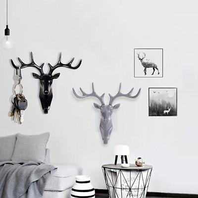 Animal Deer Stags Head Hook Hanger Rack Holder Wall Mount Home Room Decor MA