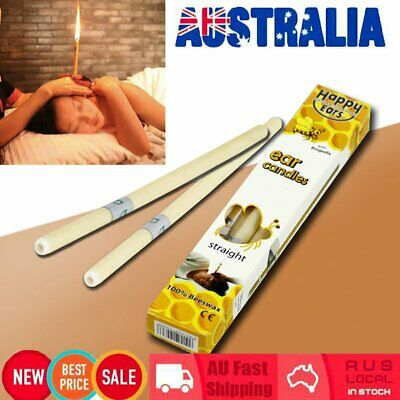 2Pcs Hopi Ear Candling Candel Natural Beeswax Excellent Quality Wax Candles BO