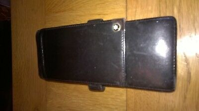 Mont Blanc black leather pen holder/etui