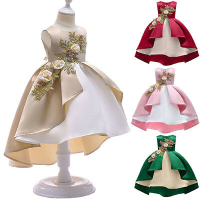 AU Toddler Baby Girls Backless Bowknot Tutu Party Pageant Formal Dress Wedding