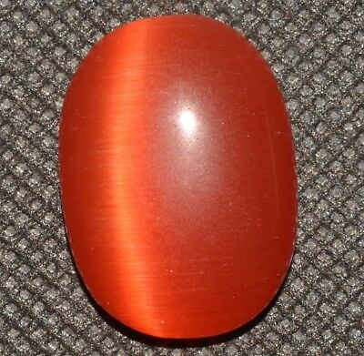 31.00 Ct Natural HUGE Orange Cat's Eye AGSL Certified Rare Found Cabochon Gem