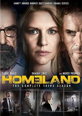 Homeland : Season 3 (DVD, 4-Disc Set) R-4-NEW AND SEALED-FREE POST AUS-WIDE