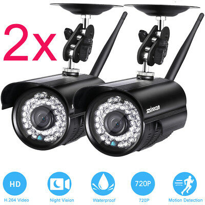 2x HD 720P WIFI WIRELESS TELECAMERA ESTERNA IP CAMERA ONVIF INFRAROSSI CCTV CAM