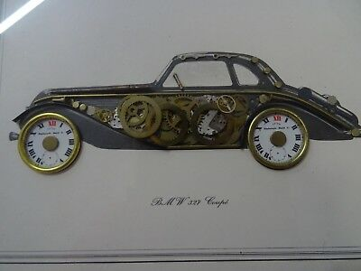 Horological collage BMW 327 Coupe by Ken Broadbent