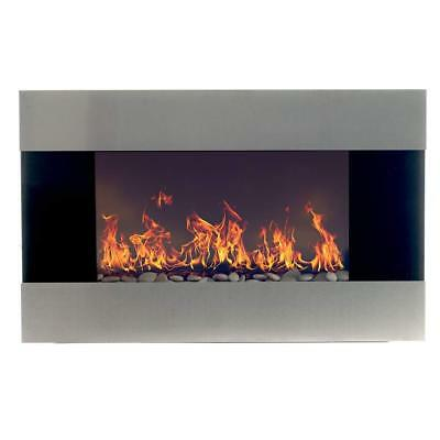 Northwest 80-EF421S Electric Fireplace with Wall Mount and Remote, Stainless...