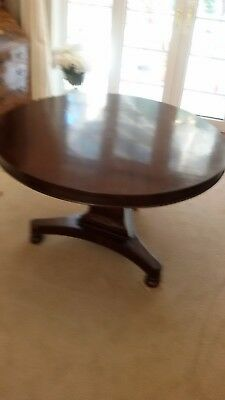 Antique Circular Rosewood Breakfast /dining Table. Georgian William Iv Period