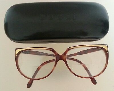 Gucci  Womens Eyeglasses Frame Vintage Amber Montatura Occhiali Donna
