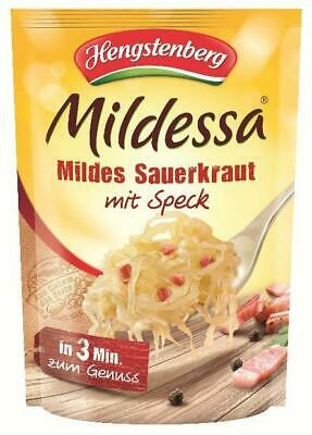 Hengstenberg Mildessa Mild Sauerkraut with Speck in Pouch 400g