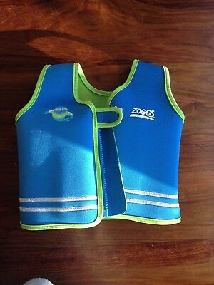 Zoggs swim squad 'learn to swim'  blue float jacket  (2-3 years) (buoyancy aid)