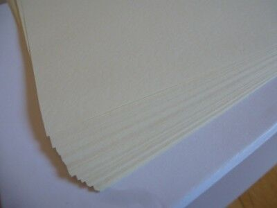 A4 Creamy Cream Coloured Textured Hammered Paper for Arts & Crafts ~ 24 Sheets