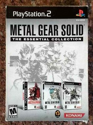 Metal Gear Solid The Essentials Collection 3 games Ps2 Playstation 2 TESTED