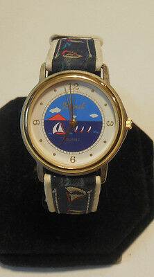 Collectible Bunel nautical themed watch,rarely worn, signs of storage,runs  C274