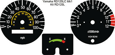 Yamaha Rd125Lc Rd125 Lc Mk1 Speedo Tacho Clocks Gauges Dial Face Overlays