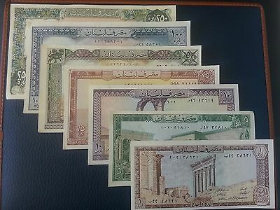 7 Unc Banknotes From Lebanon P 61-67 ( Very Low Starting Bid)