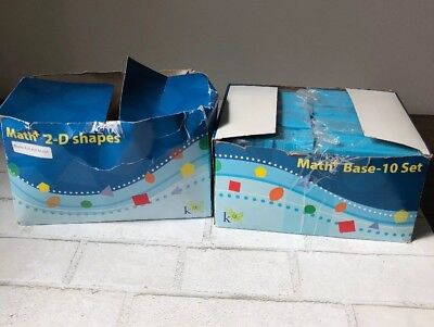 Math + 2D Shapes and Base 10 Sets Home School Teaching Aid Manipulatives NEW LOT