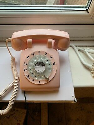 Vintage Style Pink Telephone