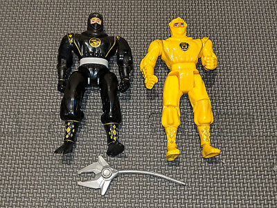 Mighty Morphin Power Rangers Yellow Black Ninja lot