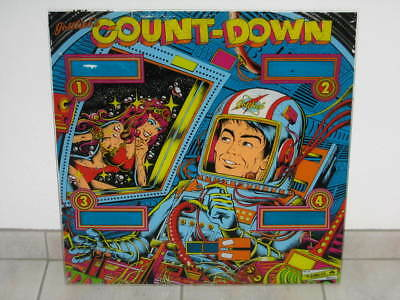 Gottlieb Count Down Backglas Flipperscheibe Flipper Flipperautomat Pinball