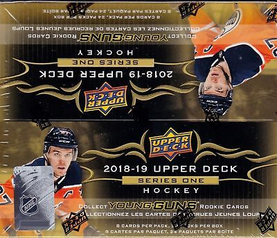 2018-19 Upper Deck Series 1 Hockey sealed retail box 24 packs of 8 NHL cards