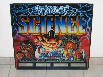 Bally Strange Science Backglas Flipperscheibe Flipper Flipperautomat Pinball