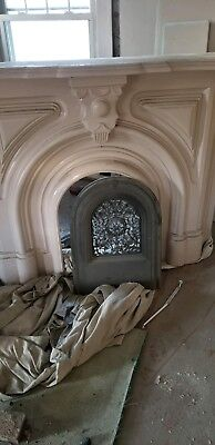 Metal/Cast Iron Ornate Mantle and Grate